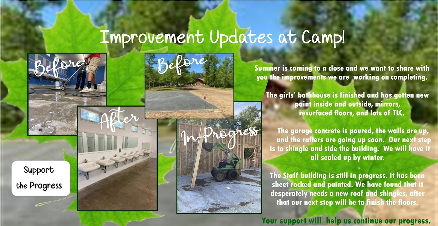 Improvement Updates at Camp!