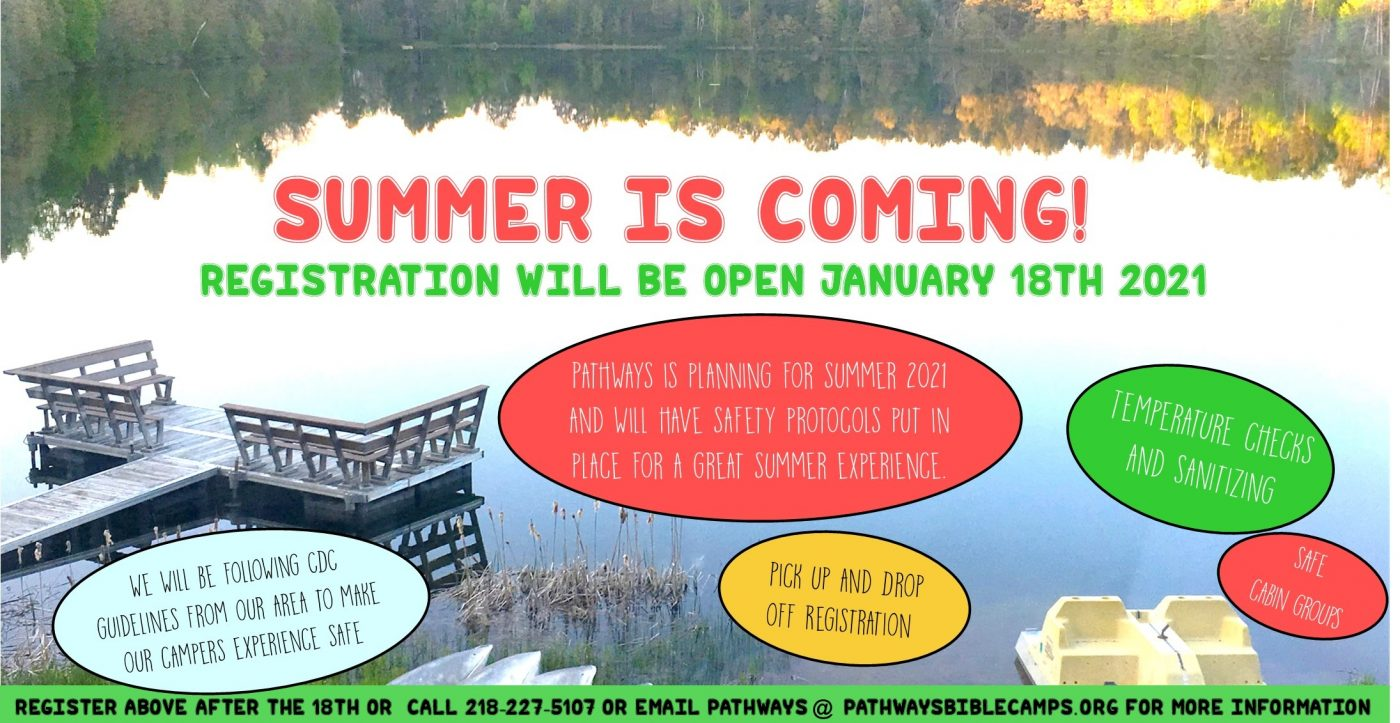Summer is Coming! Registration begins January 18, 2021